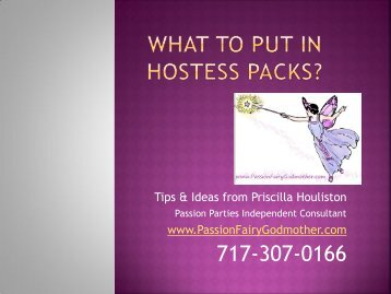 What to put in hostess packs? - DivasWithADream.com