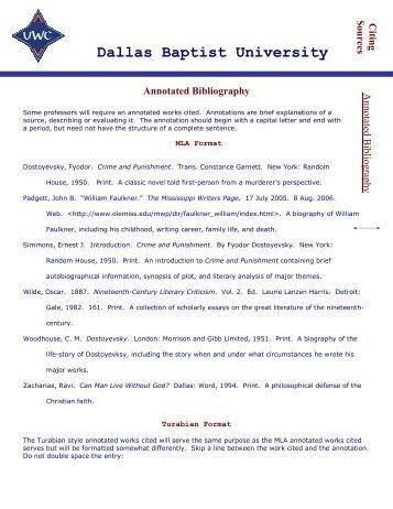 annotated bibliography kwantlen