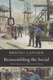 Reassembling the Social: An Introduction to Actor-Network-Theory ...