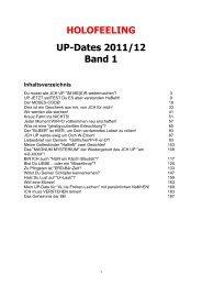HOLOFEELING UP-Dates 2011/12 Band 1 - Die Weisheit der Kabbala