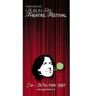 2007 Programme - Dublin Gay Theatre Festival