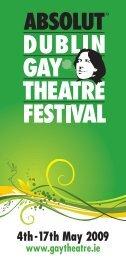 2009 Summer Programme - Dublin Gay Theatre Festival