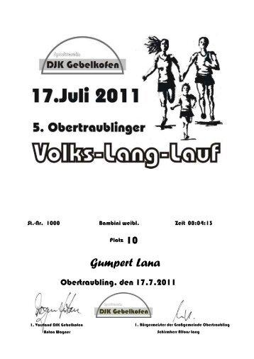 Urkunden der Bambinis - DJK Gebelkofen