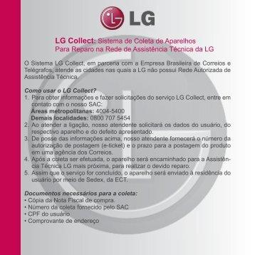 LG Collect: Sistema de Coleta de Aparelhos Para ... - Submarino