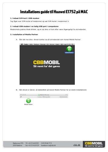 Installations guide til Huawei E1752 på MAC - cbb