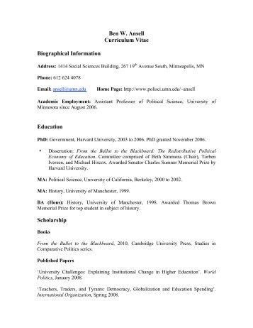 Resume Resume Templates  Political Science Resume