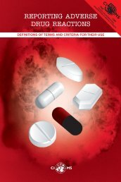 REPORTING ADVERSE DRUG REACTIONS - cioms