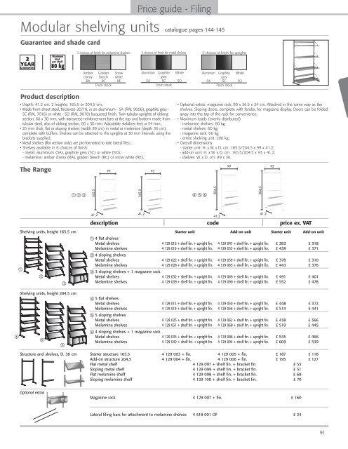 Shelving units - 1st Choice Office Furniture Ltd