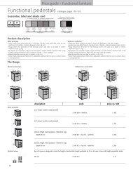 Pedestals (421 Ko) - 1st Choice Office Furniture Ltd