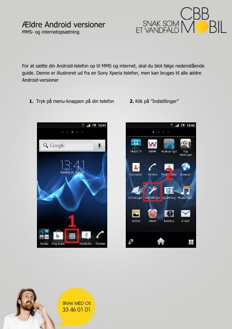 Ældre Android versioner Android versioner - cbb