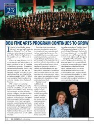 dbu fine arts program continues to grow - Dallas Baptist University
