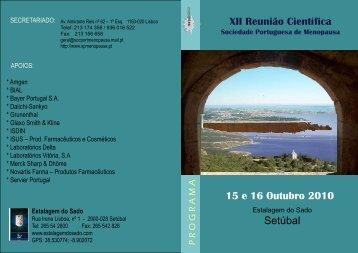 Programa - Sociedade Portuguesa de Menopausa