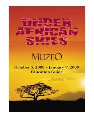 October 5, 2008 - January 9, 2009 Education Guide - Muzeo