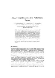 An Approach to Application Performance Tuning - ParMa - Parallel ...