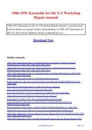 kawasaki x 2 1991 factory service repair manual