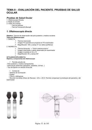 tema 8 – evaluación del paciente. pruebas de ... - estudiando optica