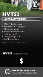 135cc* displacement Honda GCV-135 engine ... - Husqvarna Group