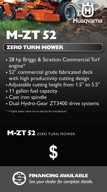 zero turn mower - Husqvarna Group