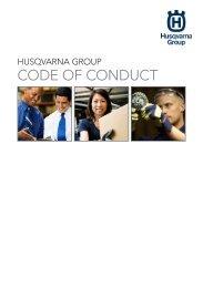 code of conduct - Husqvarna Group
