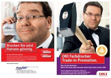 OKI Farbdrucker Trade-In Promotion. - Polyton.ch