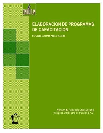 ELABORACIÓN DE PROGRAMAS DE CAPACITACIÓN