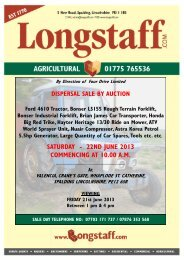 DISPERSAL SALE BY AUCTION - Longstaff