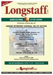 genuine retirement dispersal sale by auction - Longstaff