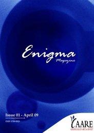 Enigma Issue One Online - Enigma Magazine