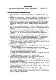 Usnesení ZM ze dne 20.06.2007 - Rousínov
