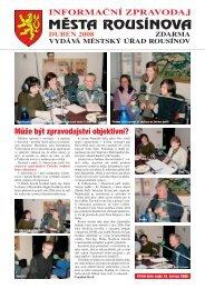 Zpravodaj z 11.04.2008 - Rousínov