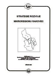 Strategie rozvoje mikroregionu Rakovec - analytická část - Rousínov