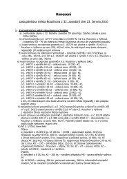 Usnesení ZM ze dne 23.06.2010 - Rousínov