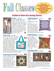 Fashion & Home Dec Sewing Classes - Appletree Quilting and ...