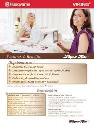 Features & Benefits - Husqvarna Viking