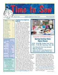 Everyone is Invited to Our,,,, Spring Sewing Class Open House