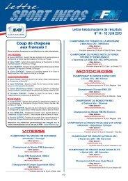 Lettre hebdomadaire de résultats N° 14 - 10 JUIN 2013 ... - Mototribu