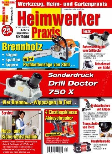 HEIMWERKER PRAXIS 5/2010 - Drilldoctor