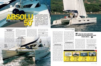 Fast, fun and comfortable the Absolu has ... - Multihulls World