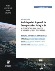 An Integrated Approach to Transportation Policy in BC (Nov. 2008)