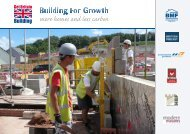 Building For Growth autumn campaign leaflet - September 2011
