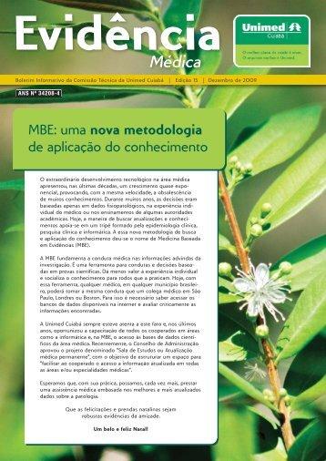 MBE: uma nova metodologia de aplicação do ... - Unimed Cuiabá
