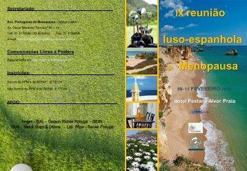 IX reunião luso-espanhola de Menopausa - Programa - Sociedade ...