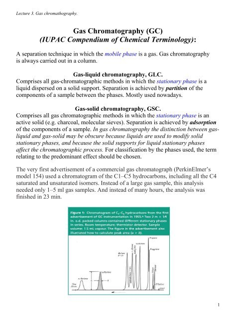 Gas Chromatography (GC) (IUPAC Compendium of Chemical