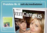 Preisliste Nr. 6 zeit.de/mediadaten - Pressrelations GmbH