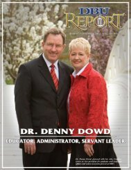Dr. Denny Dowd, pictured with his wife, Candice, serves as vice ...