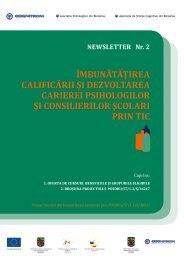 îmbunătăţirea calificării şi dezvoltarea carierei psihologilor şi ...