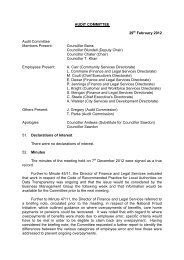 AUDIT COMMITTEE - Meetings, agendas, and minutes