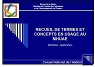 Recueil de termes et concepts du MHUAE - Ministère de l'Habitat ...