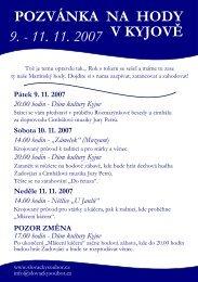Hody a další akce 2007 v PDF