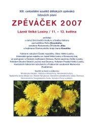 Sborník vydaný k letošním Zpěváčkům (PDF) - Folklorní sdružení ČR